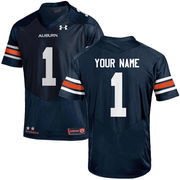 Men's Under Armour Navy Auburn Tigers Custom Replica Jersey