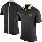 Men's Nike Black Wake Forest Demon Deacons Coaches Sideline Performance Polo