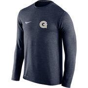 Men's Nike Navy Georgetown Hoyas Touch Long Sleeve Performance T-Shirt