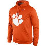 Men's Nike Orange Clemson Tigers Practice Performance Hoodie