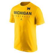 Men's Brand Jordan Gold Michigan Wolverines 2016 Football Practice T-Shirt
