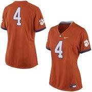 Women's Nike No. 4 Orange Clemson Tigers Game Replica Football Jersey