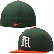 Miami Hurricanes Nike Dri-FIT True Colors Authentic Fitted Hat - Green