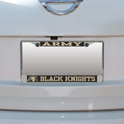 Army Black Knights Small Over Large Mega License Plate Frame
