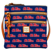 Women's Dooney & Bourke Navy Ole Miss Rebels Triple-Zip Crossbody Purse