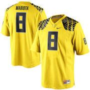 Men's Nike Marcus Mariota Yellow Oregon Ducks Alumni Football Game Jersey