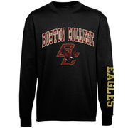 Youth Boston College Eagles Black Distressed Arch & Logo Long Sleeve T-Shirt