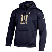 Men's Under Armour Navy Navy Midshipmen Sideline Elevate Storm Performance Hoodie