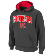Men's Stadium Athletic Charcoal Rutgers Scarlet Knights Arch & Logo Pullover Hoodie