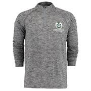 Men's Under Armour Heather Gray Colorado State Rams 1/4 Zip Long Sleeve Tech T-Shirt