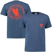 Men's Auburn Tigers Circle Silhouette Comfort Colors Pocket T-Shirt