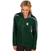 Women's Antigua Green Michigan State Spartans Discover Full-Zip Jacket
