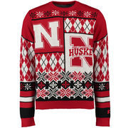 Unisex Klew Red Nebraska Cornhuskers Thematic Ugly Sweater