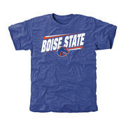Men's Royal Boise State Broncos Double Bar Tri-Blend T-Shirt