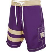 Washington Huskies Come Back Boardshorts - Purple