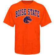 Mens Orange Boise State Broncos Arch Over Logo T-Shirt