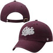 Mens Montana Grizzlies '47 Brand Maroon NCAA Clean Up Adjustable Hat