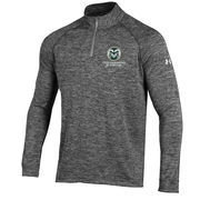Men's Under Armour Heather Grey Colorado State Rams 1/4 Zip Performance Top