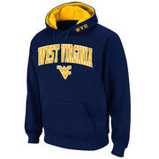 Men's Stadium Athletic Navy West Virginia Mountaineers Arch & Logo Pullover Hoodie