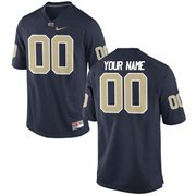 Nike Mens Pitt Panthers Custom Replica Football Jersey - Navy