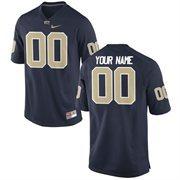 Nike Mens Pitt Panthers Custom Replica Football Jersey - Navy