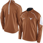 Men's Nike Burnt Orange Texas Longhorns 2015 Coaches Sideline Alpha Fly Rush 1/4 Zip Performance Jacket