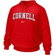 Nike Cornell Big Red Red Vertical Arch Hoodie Sweatshirt