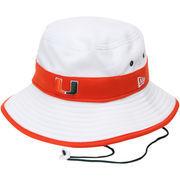Men's New Era White Miami Hurricanes Training Bucket Hat