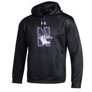 Men's Under Armour Black Northwestern Wildcats Big Logo Storm Performance Pullover Hoodie