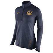 Women's Nike Navy Cal Bears Stadium Element 1/2 Zip Performance Jacket
