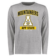 Men's Ash Appalachian State Mountaineers Big & Tall Campus Icon Long Sleeve T-Shirt