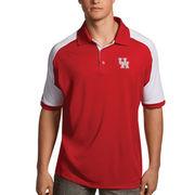 Men's Antigua Red/White Houston Cougars Century Polo