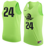 Men's Nike Neon Green Oregon Ducks Showtime Disruption Authentic Basketball Jersey