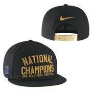 Men's Nike Black Duke Blue Devils 2015 NCAA Men's Basketball National Champions Players Locker Room Snapback Adjustable Hat