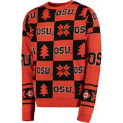 Men's Black Oregon State Beavers Patches Ugly Pullover Sweater