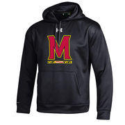Men's Under Armour Black Maryland Terrapins Big Logo Storm Performance Pullover Hoodie