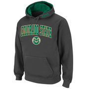 Men's Stadium Athletic Charcoal Colorado State Rams Arch & Logo Pullover Hoodie