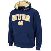 Men's Stadium Athletic Navy Notre Dame Fighting Irish Arch & Logo Pullover Hoodie