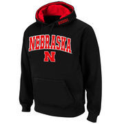 Men's Stadium Athletic Black Nebraska Cornhuskers Arch & Logo Pullover Hoodie
