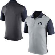 Men's Nike Gray BYU Cougars 2015 Coaches Preseason Sideline Polo