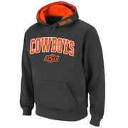 Men's Stadium Athletic Charcoal Oklahoma State Cowboys Arch & Logo Pullover Hoodie