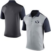 Men's Nike Gray BYU Cougars 2015 Coaches Preseason Sideline Polo