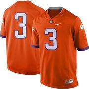 Mens Clemson Tigers Nike Orange No. 3 Limited Football Jersey