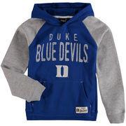 Youth Royal/Gray Duke Blue Devils Foundation Raglan Hoodie