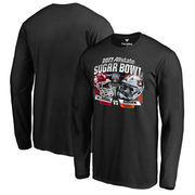 Men's Fanatics Branded Black Oklahoma Sooners vs. Auburn Tigers 2017 Sugar Bowl Dueling Long Sleeve T-Shirt