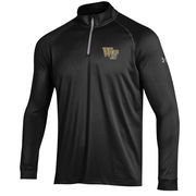 Men's Under Armour Black Wake Forest Demon Deacons 1/4 Zip Performance Top