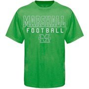 Marshall Thundering Herd Frame Football T-Shirt - Kelly Green