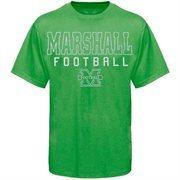 Marshall Thundering Herd Frame Football T-Shirt - Kelly Green