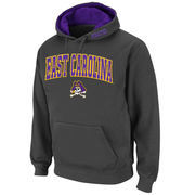 Men's Stadium Athletic Charcoal East Carolina Pirates Arch & Logo Pullover Hoodie
