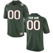 Miami Hurricanes Nike Alternate Custom Game Jersey - Green